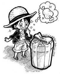 Hungry Luffy by Captain--Ruffy