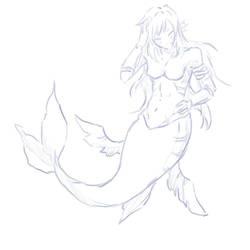 Long Haired Mermaid!Rio by criselaine