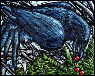 Winter Raven by UltraViolete
