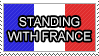 Standing with france - Stamp by GrassWolfDev
