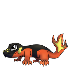 Fire type fakemon by MagicalRave