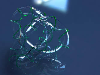 3DknotSculpture - GLASSversion by love1008