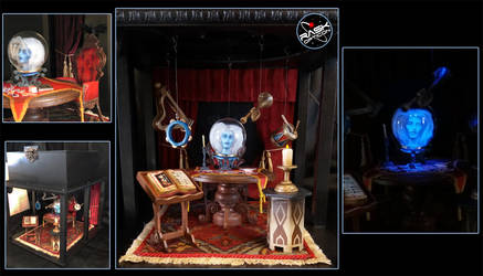 RASK Haunted Mansion Madam Leota diorama by rAskopticon