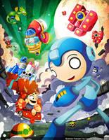 Wily Paradise Mega Man Tribute by GoshaDole