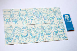 Radio Gosha illustration give-away cards 2018 by GoshaDole