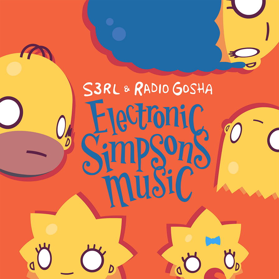 Electronic Simpsons Music cover artwork by GoshaDole