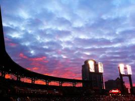 Busch Stadium Sunset by Saber-Cow