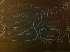 Staring contest VIA CHALK by Saber-Cow
