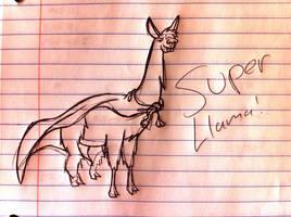 SUPER LLAMA by Saber-Cow
