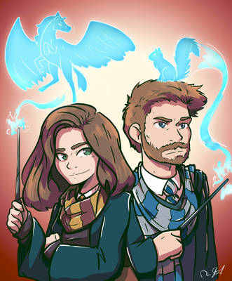 Danielle and Dave by Saber-Cow