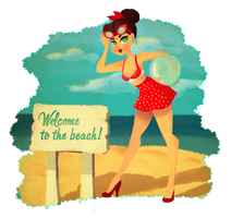 Pin-up girl 3 - Welcome to the beach! by Misspingu