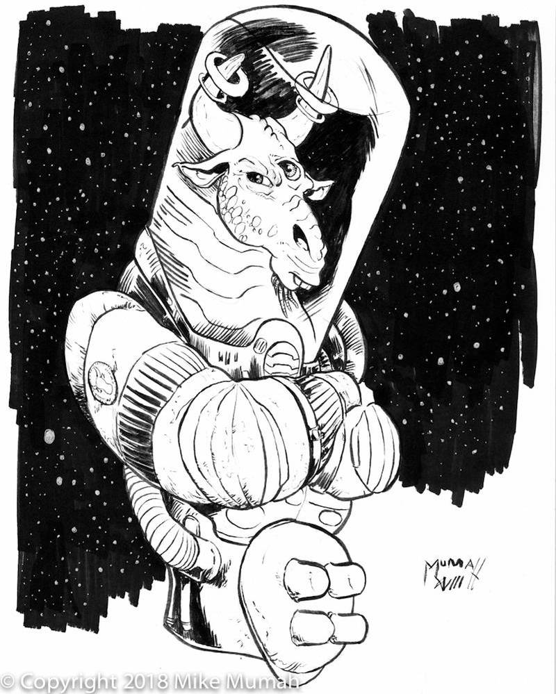 Edgar the Space Cow by Mumah