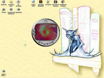 my work desktop by xybercat