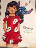 Lilo and Stitch - Marker illustration by Liss-Lily