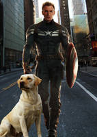 Steve Rogers and His Daemon by LJ-Todd