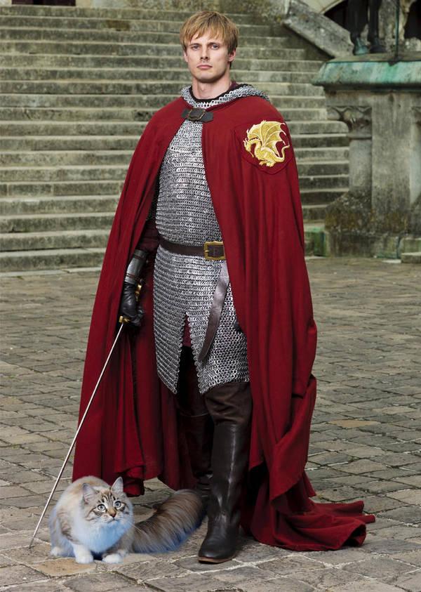 Arthur Pendragon and His Daemon by LJ-Todd