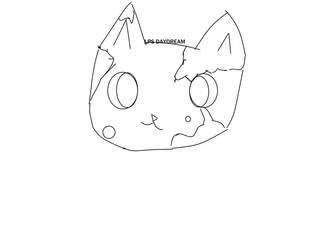 Cat Lineart ( GIVE CREDIT IF USE ) by aregulardaydrea