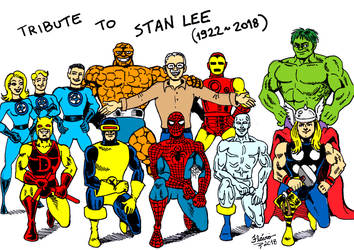 My tribute to Stan Lee by flaviosoares