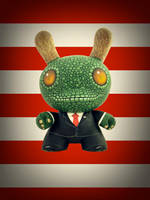 Reptilian president Dunny Flag by zombieduck