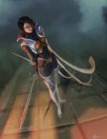 Sharp blade, sharp mind (Fiora) by nfouque