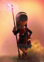 Maeko Aeko, Final Fantasy XIV fan-art by nfouque