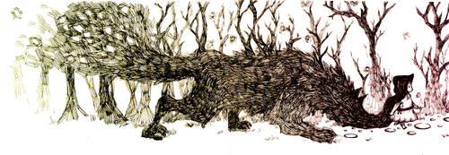 Walking Through The Woods by shirua