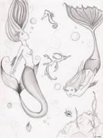 Mermaids by ratpoisonedbeer