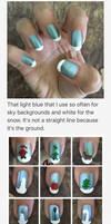 Christmas Nail Art 2016 Process by MikariStar