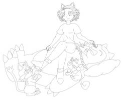 Project Cats Lineart by MikariStar