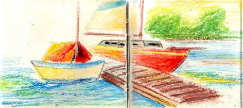 boat on the sea by canadabloodliver