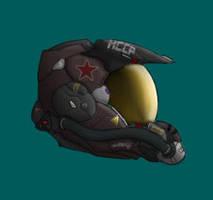 Neo-Soviet Flight Helmet 2 by PrinzEugn