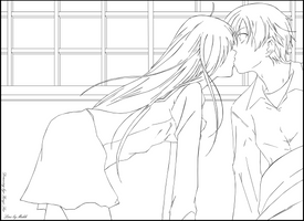 Yuzuki Kiss Haruto - Line by Makk-V