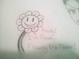 Flowey the flower  by Bluerosethehedgehog