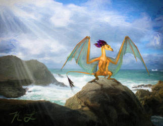 Dragon Rock_Digital oil_KL by cactuskim
