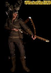 Dear Hunter: PNG Fantasy Figure_KL by cactuskim