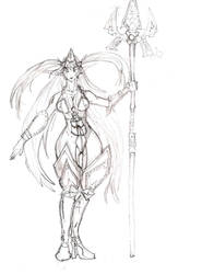 Sketch Woman with a spear by amateurbrazilian