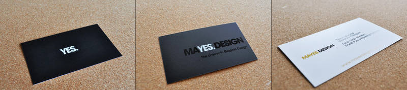 Business Card Mayes Design by BonZipper