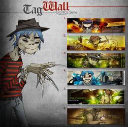 Tag Wall: Gorillaz by Murdoc-Th