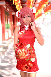 Love Live! Chinese dress - Maki by ruby-hearts