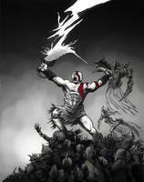 Battle Artist 02 Kratos by robthesentinel
