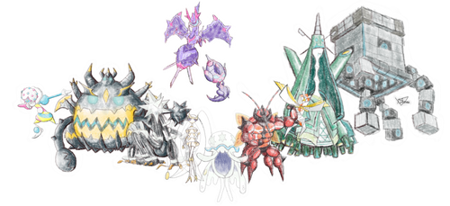 Ultra Beasts - Crayon effect by The3Brawlers2014
