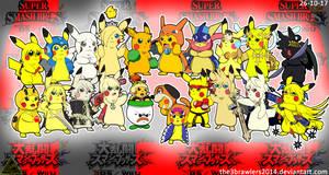 SSB4 Pikachu Version by The3Brawlers2014