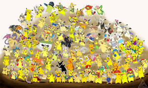 Smash Bros. Pikachu... EVERYONE IS HERE by The3Brawlers2014
