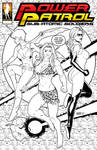 Power Patrol: Sub-Atomic Soldiers WIP Cover by giantess-fan-comics