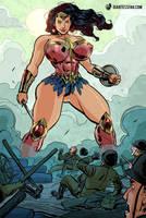 A Giantess in No Man's Land by giantess-fan-comics