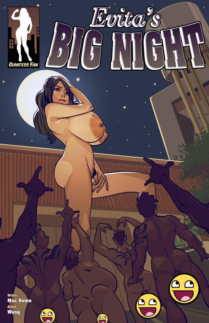 Evita's Big Night - Full Moon Giantess by giantess-fan-comics