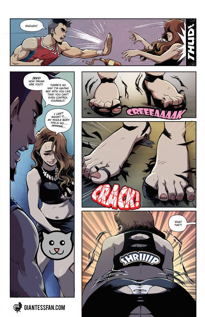 Drunken Growth by giantess-fan-comics