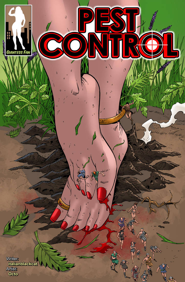 Pest Control - Celine the Crusher by giantess-fan-comics