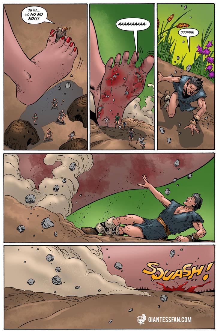 Beneath Her Barefoot by giantess-fan-comics