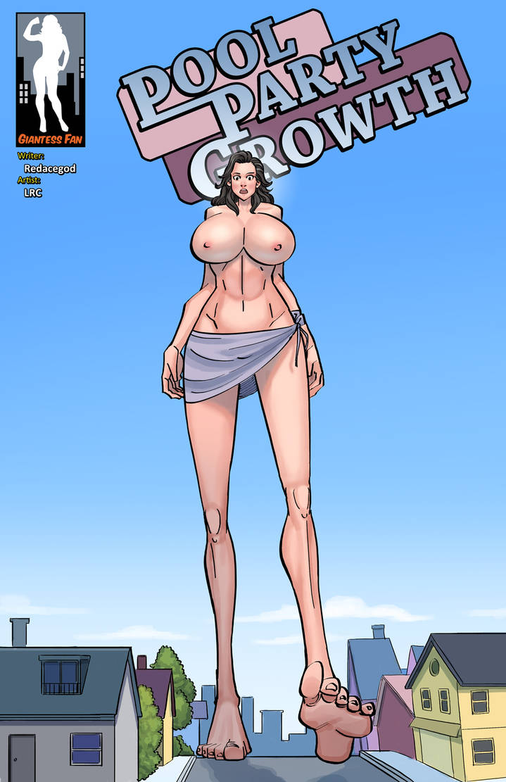 Pool Party Growth 3 - Robin Raises Beyond The Roof by giantess-fan-comics